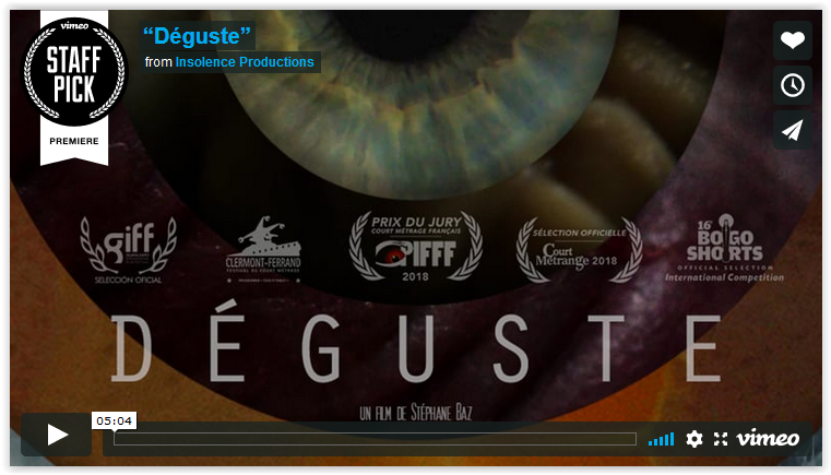 «Déguste» dépasse les 100 000 vues en une semaine sur Vimeo